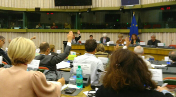 Utskottsmöte i EU-parlamentet